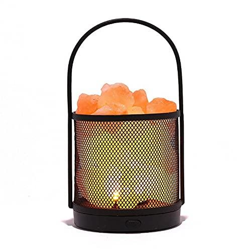 GFDFD Lámpara de Sal Himalaya Pink Piedra luz luz de Noche lámpara de Mesa lámpara de Noche lámpara Noche luz de Noche decoración casera Despierta luz (Size : A)