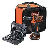 Black+Decker bdcdd12s32a-qw atornillador inalámbrico litio 10, 8V–32accesorios + bolsa...