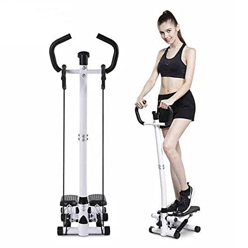 Stepper Fitness con Asa, Twist Stepper para Aeróbicos y Fitness, Pantalla LCD, Altura Ajustable