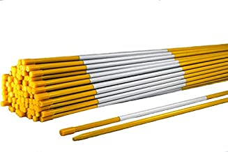 Snow Pole Driveway Markers 4 ft. – Marking Stakes with Hi-Viz Reflective Tape Fiberglass Snow Stakes, 5/16'' Thick Flexible and Easy to Install Driveway Rods (Yellow, 20 Pack)
