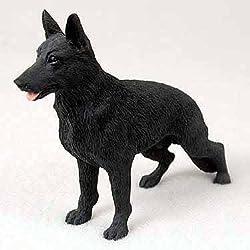 German Shepherd Dog Figurine 3 inch Statue Black Tan Resin Sitting