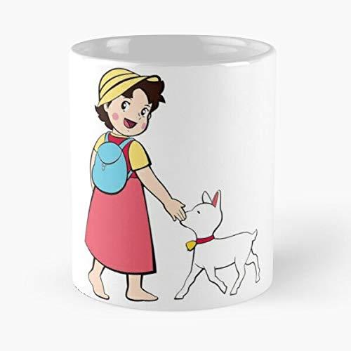Show Cartoon Anime Heidi Serie Switzerland Comic Alps Tv I DatMon- Mug holds hand made from White marble ceramic printed trendy design