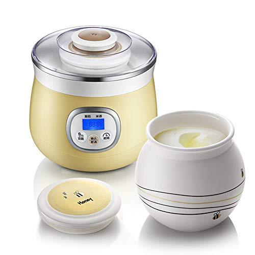 SJTL Yogurtera Electrica, Máquina Automática para Hacer Yogurt de 220V 1L Fabricante de Yogur Yogur Crema Eléctrica Máquina para Yogur Natural con Pantalla LCD