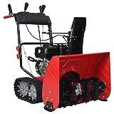 vidaXL Máquina Quitanieves 2 Etapas Entradas Vehículos Aceras Superficies Pavimentadas Eléctrica Bajas Temperaturas Plástico Rojo Negro 196 CC 6,5 HP