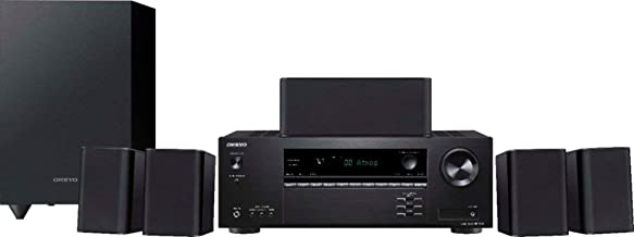 Onkyo HT-S3910 Home Audio Theater Receiver and Speaker Package, Front/Center Speaker, 4 Surround Speakers, Subwoofer and R...