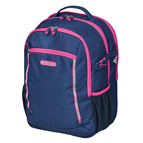 herlitz 50032778 basisschoolrugzak Ultimate leeg, navy/roze, 1 stuk