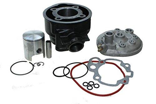 Zylinder Kit 70ccm inkl. Zylinderkopf LC wassergekühlt für Minarelli Motoren, AM 2, 3, 4, 5, 6, Aprilia RS, Beta RR 50, Malaguti XSM, Motorhispania Furia, Peugeot XP6, Rieju MRX, Sherco EN 50
