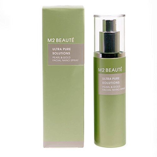 M2 Beauté Ultra Pure Solutions Pearl & Gold Facial Nano Spray - Gesichtspflegespray, 75 ml