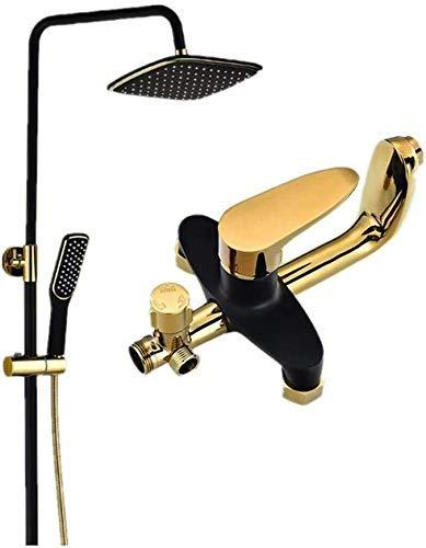 Kit de cabezal de ducha de mano Cabezal de ducha con espray superior de tres funciones montado en la pared Cabezal de ducha de mano de...