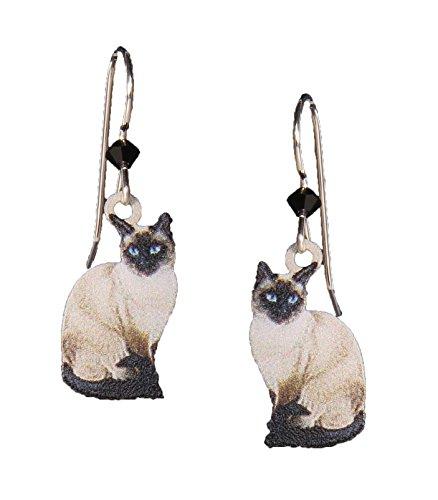 Sienna Sky Earrings: Siamese Cats