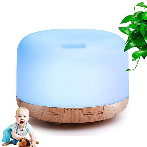 Gaidehua luchtbevochtiger met kleurlicht, LED, voor verdamper van olie, sesam, aromatherapy, aroma-diffuser, etherische verdamper, geschikt voor thuis spa