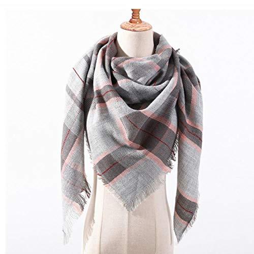 Schal Schal Winter-Schal -Frauen-Mode-Plaid-Schal -Schal -und Verpackungs-Damen-Ansatz-warme Schal s weich G