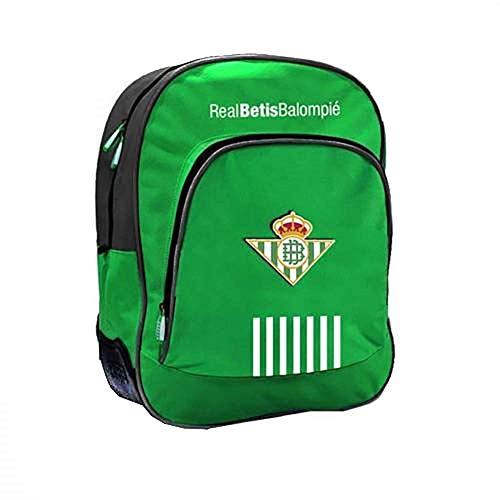 Real Betis 143502 Mochila con 2 Bolsillos, Verde, 32x16x42cm