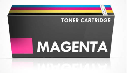 Compatible Dell 1250 Laser Toner Cartridge for Dell Printers 1250c, 1350cnw, 1355cn, 1355cnw, C1760, C1760nw, C1765, C1765nfw - MAGENTA