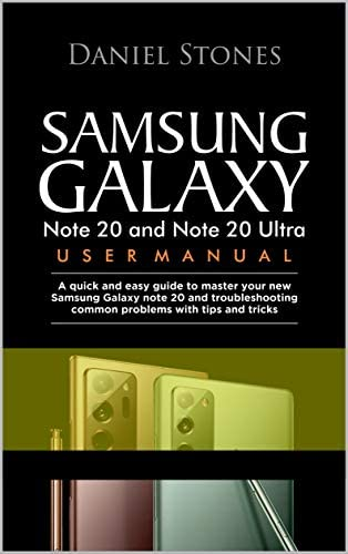 Samsung Galaxy Note 20 and Note 20 Ultra User Manual A Quick And Easy Guide To Master Your New product image
