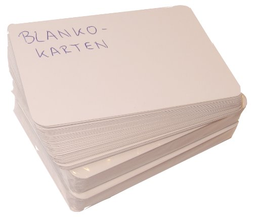 IQ-Spiele 2er-Set Spielkarten blanko, je 36 unbedruckte Karten