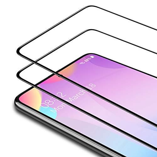 Bewahly Panzerglas Schutzfolie für Samsung Galaxy A71 [2 Stück], 9H Festigkeit Panzerglasfolie Ultra Dünn Bildschirmschutzfolie Vollständige Abdeckung Glas Folie für Samsung Galaxy A71 - Schwarz