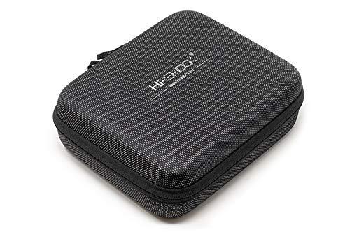 Hi-SHOCK Vapo Hardcase mit Fächern, Speicherkartenetui, Hardcase, USB Kabel Aufbewahrung - wasserabweisend - grau 19cm x 15cm x 6,5cm