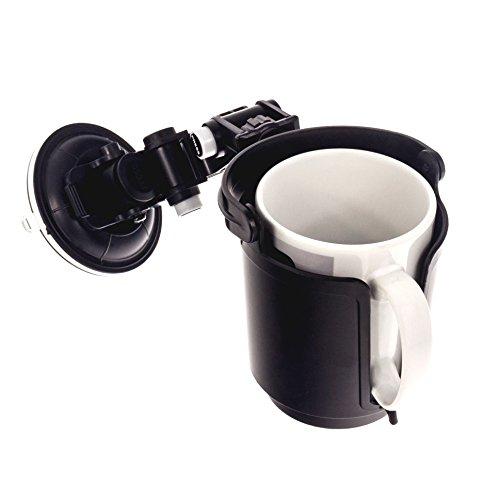 Smartfox Kfz-Getränkehalter mit Saugnapf geeignet für Flaschen bis 0,50 Liter (Flaschendurchmesser: 6,9 cm - 8 cm), Dosen, Becher, Tassen