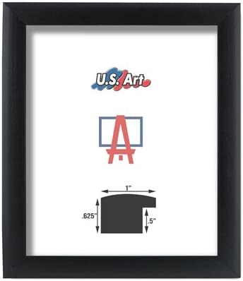 US Art Frames 13x33 Black 1 Challenge the lowest price of Japan Composite Pict Inch Kansas City Mall MDF Nugget Wood