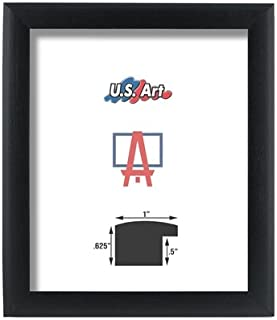 US Art Frames 12x36 Black 1 Inch, Nugget MDF Wood Composite Picture Poster Frame