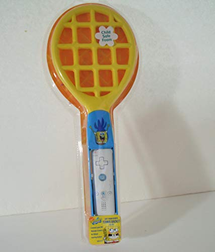 Spongebob Foam Tennis Racket for Nintendo Wii - Yellow/blue