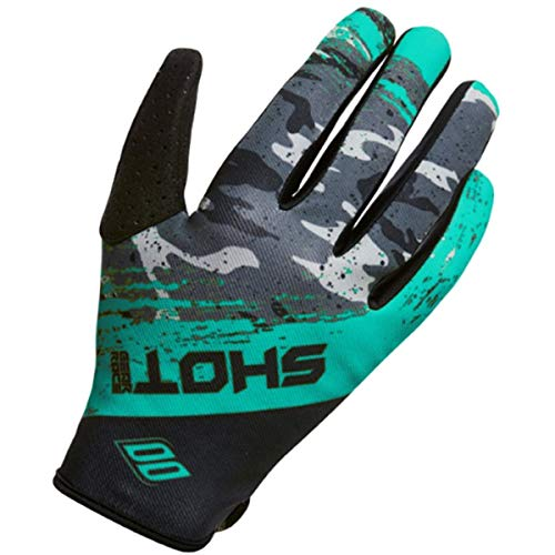 Shot Contact Air Men's Off-Road Motorcycle Gloves - Grey/Teal/Small