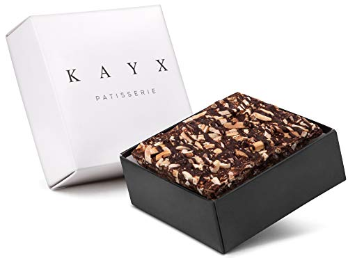 Kayx Chocolate Bark Gift Box, Mothers day Unique Elegant Package Prime for Men and Women, Corporate For any Occasion Vegan, Kosher Parve. (Nut Crunch, Small)