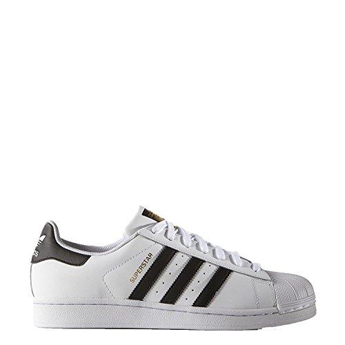 adidas Originals Superstar, Zapatillas para Correr Hombre, Ftwwht Cblack Goldmt S81858-Zapatillas de Deporte, 41 EU