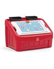 STEP2 2-IN-1 TOY BOX & ART LID, RED