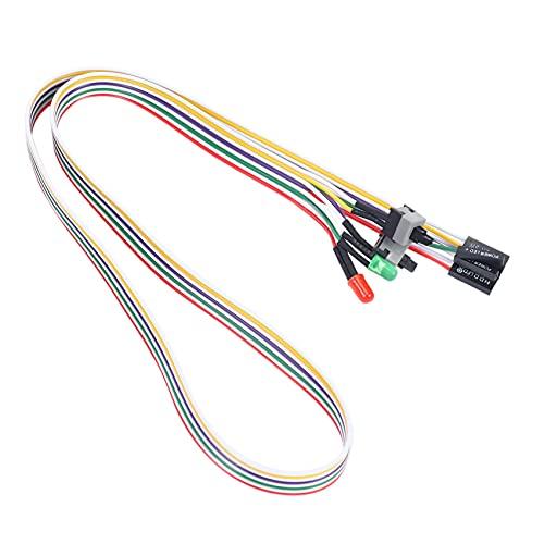 HLPIGF 20' Plomo de Interruptor HDD de reinicio de alimentacion de Potencia ATX de lampara LED Verde Rojo Caja de PC