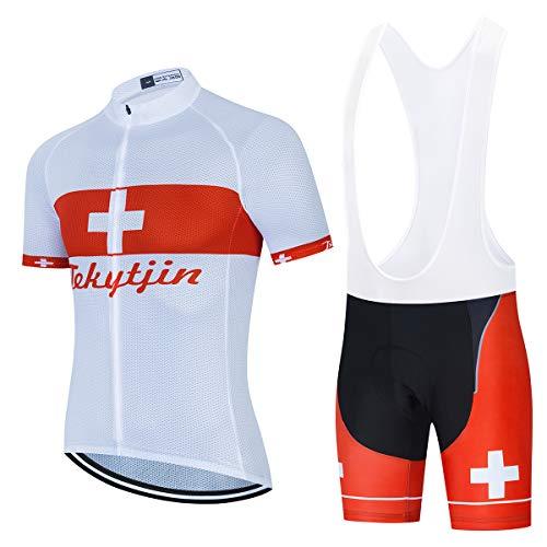 Roapa Ciclismo con 3D Acolchado De Gel, Maillot Ciclismo + Pantalon/Culotte Bicicleta Transpirable Elástico Secado Rápido