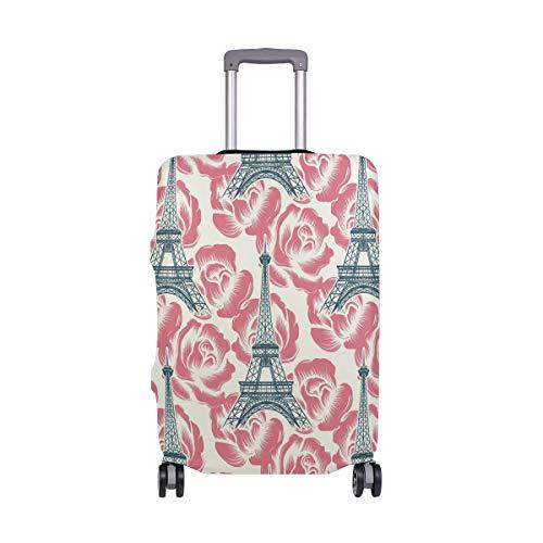 Funda protectora para maleta de viaje con diseño de la Torre Eiffel de París, de elastano, para adultos, mujeres, hombres y adolescentes, se adapta a 18-20 pulgadas