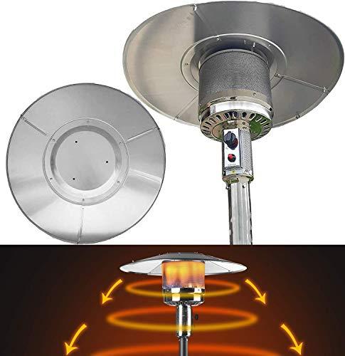 MBEN Ersatz-Top-Schild-Reflektor Aluminium-Patio-Heizgerät-Zubehör Wärmereflektorschild für Outdoor-Propan-Patio-Heizgeräte - Universal Fit
