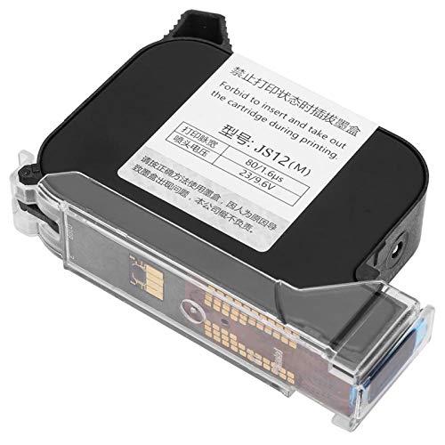 Austausch der Tintenpatrone, schwarzer Handheld-Tintenstrahldrucker Ink Office Supply Hochleistungs-Schnelltrocknung für 530 Handheld-Datumscodierer-Tintenstrahldrucker