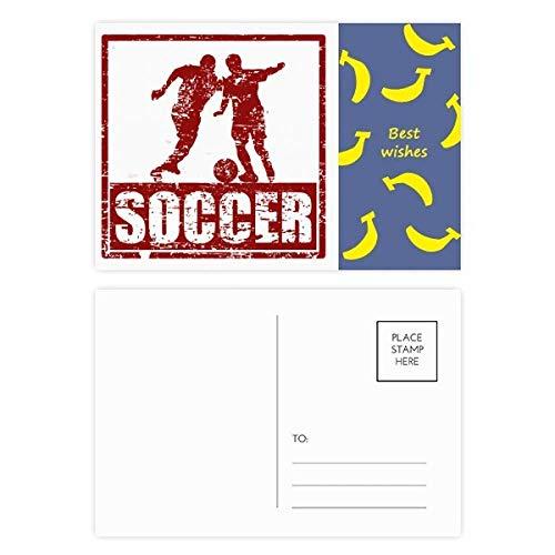 Rode Voetbal Speler Pak Voetbal Banaan Postkaart Set Thanks Card Mailing Zijde 20 stks