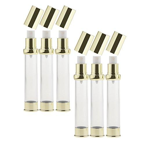 dailymall 6 X Vide Airless Bottle Cosmetic Pulvérisateur De Parfum De Voyage 10/15/30 Ml, Blanc Pour La Maison Ou Le Voyage - 30ML