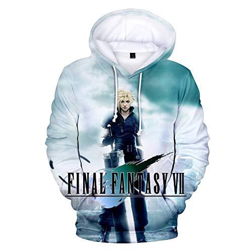 CUYOC Men's and Women's 3D Digital Printing Hooded Sweater Plus Size Loose Sweatshirt Street Long Sleeves