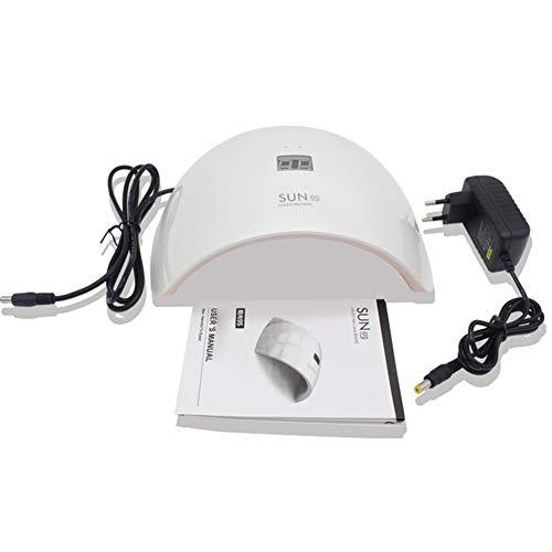Lampes UV Induction LED Lampe de photothérapie à ongles Affichage LCD Double Source de Lumière Professionnelle UV Lampe de Soleil Main et Pied pour Lampe à Ongles 110 / 220v