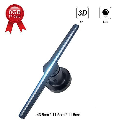 ASHATA Proiettore Ologramma 3D, Olografico Proiettore per Ologramma 3D LED, Proiettore Olografico a Luce LED con Adattatore per Il Centro Commerciale Exhibitions Party (EU)