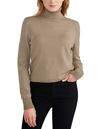 Woolen Bloom Jersey Mujer Cuello Tortuga Suéter Camiseta Manga Larga Camisa Invierno Jersey Basico Suelto Sudadera de Punto Tops Pull-Over Suéter Mujer Primavera Otoño
