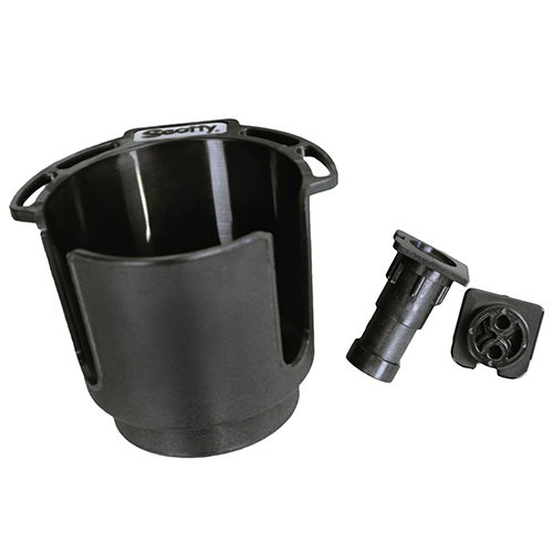 Scotty #311-BK Cup Holder with Rod Holder Post and Bulkhead Black