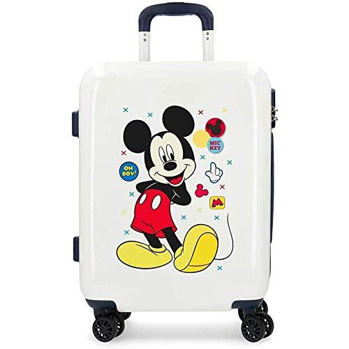 Trolley Topolino Mickey Mouse Disney Enjoy The Day OH Boy Valigia da Viaggio CM. 55X40X20 in ABS - 4688761