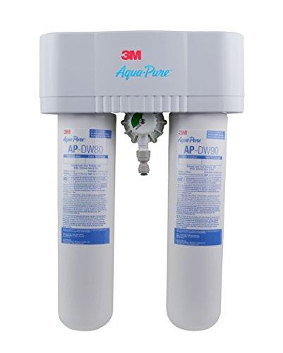 3M Aqua-Pure Under Sink Dedicated Faucet Water Filter System AP-DWS1000LF, 5583103, No Faucet, 1 Per Case, White