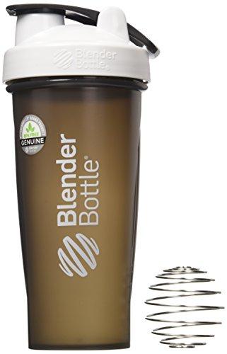 BlenderBottle Full Color Bottles - New Black Translucent Color with Shaker Ball - White - 28oz Iowa