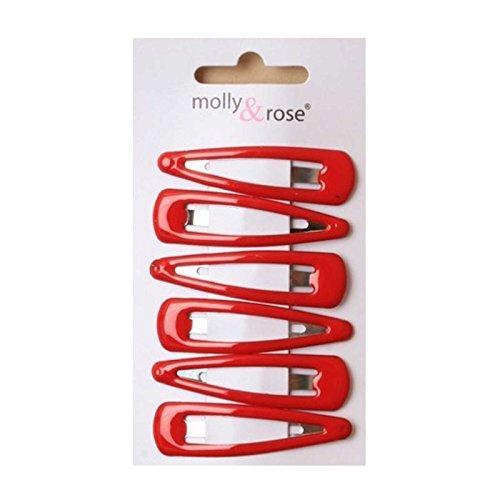5cm Hair Sleepies Clips Accessories - School Colour Red