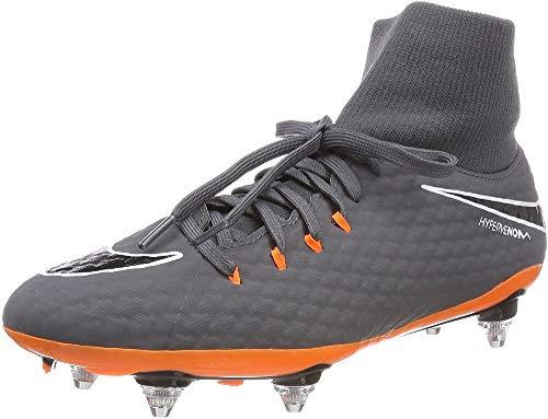 Nike Phantom 3 Academy DF SG, Scarpe da Fitness Uomo, Multicolore (Dark Grey/Total Oran 081), 38.5 EU