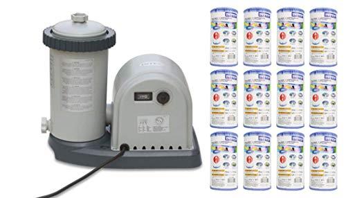 Intex 1500 GPH Easy Set Pool Filter Pump w/ GFCI & 12 Type A...