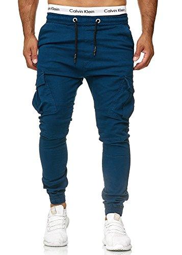 Code47 Herren Chino Jogg Jogger Jeans Slim Fit Cargo Stretch W29-W38 Navy W34 L32