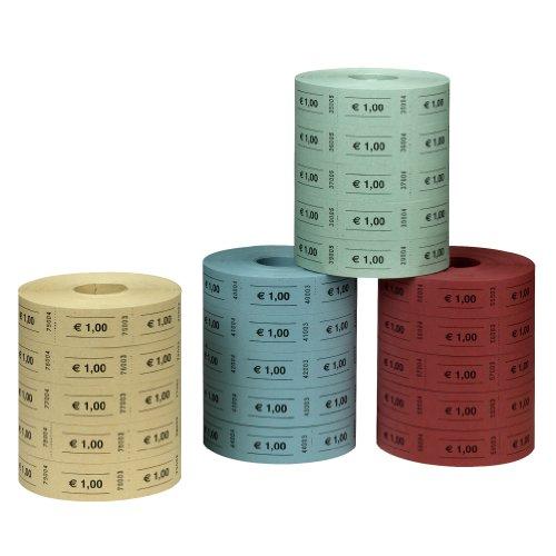 Herlitz 10733368 - Wertmarke 1 Euro 5x1000 Abrisse, farblich sortiert